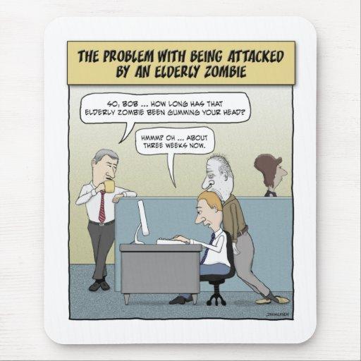 Funny mousepad: Elderly Zombie