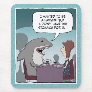 Funny mousepad: Shark Lawyer Mouse Pad