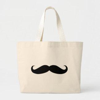 funny moustach canvas bag