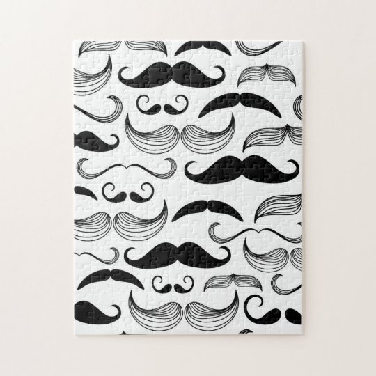 Funny Moustache Jigsaw Puzzle