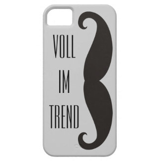 Funny Moustache / Schnurrbart + your text iPhone 5 Covers