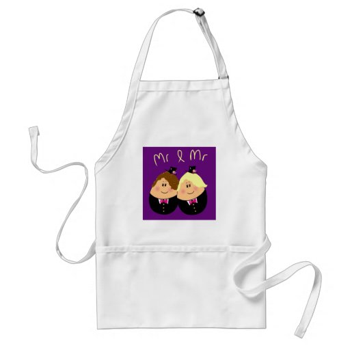 Funny Mr and Mr wedding design for Gay Men - eggs Aprons
