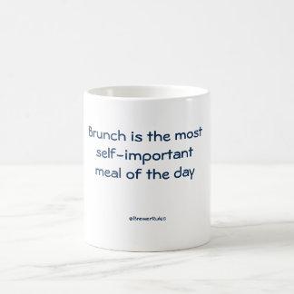 Funny mug: Brunch is the most self-important... Basic White Mug