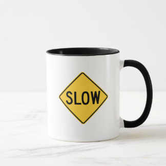 "Funny Mug ""I work at two speeds SLOW and SLOWER"""