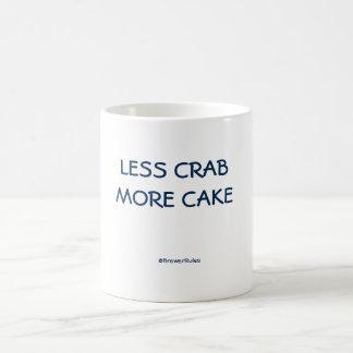 Funny mug: Less crab, more cake Basic White Mug