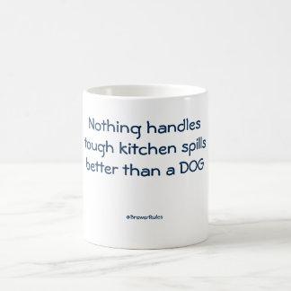 Funny mug: Nothing handles tough kitchen spills... Basic White Mug