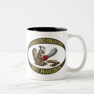 Funny Mug: Working Smarter Not Harder Two-Tone Mug