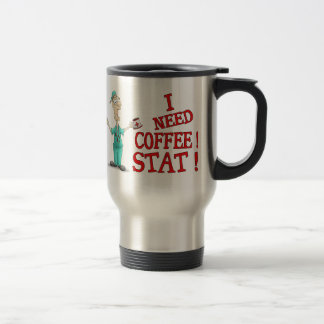 Funny Mugs: Coffee Stat! Stainless Steel Travel Mug
