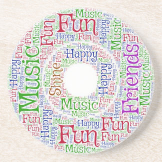 Funny Music Coaster