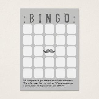 Funny Mustache 5x5 Grey Bingo Card