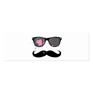 Funny Mustache and Sunglasses Business Card Template