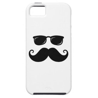 Funny mustache and sunglasses face iPhone 5 covers