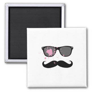 Funny Mustache and Sunglasses Refrigerator Magnets