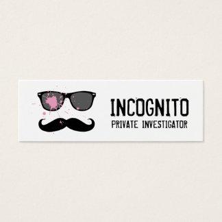 Funny Mustache and Sunglasses Mini Business Card