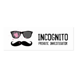 Funny Mustache and Sunglasses Pack Of Skinny Business Cards