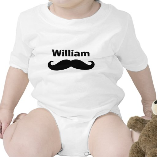 Funny mustache baby t shirt for infants
