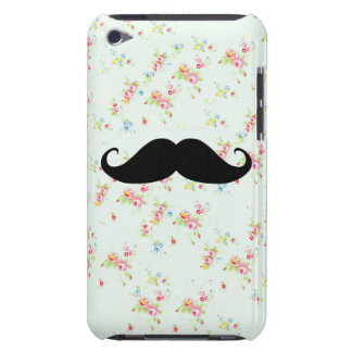 Funny mustache floral mustaches girly pattern iPod touch cover