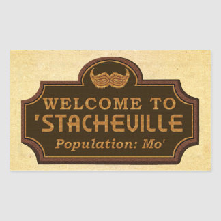 Funny Mustache Mo Welcome Sign Stickers