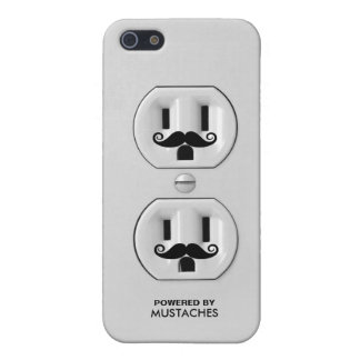 Funny Mustache Outlet Case For iPhone 5/5S