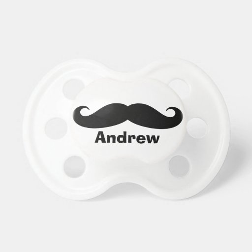 Funny mustache pacifier | soother binkie dummy