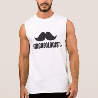 Funny Mustache Sleeveless Tee