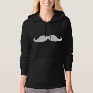 FUNNY MUSTACHE | WHITE HOODIE