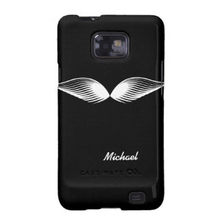 Funny Mustache Wings Samsung Galaxy S2 Case