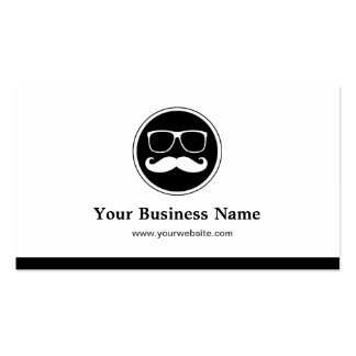 Funny Mustache with Glasses - Simple Elegant Pack Of Standard Business Cards