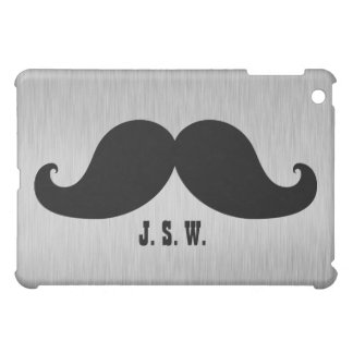 FUNNY MUSTACHE YOUR INITIALS COVER FOR THE iPad MINI