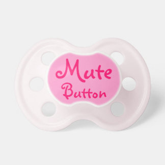 funny mute button pacifier