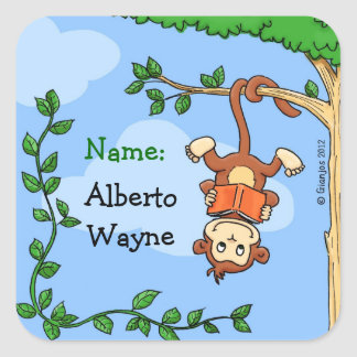 Funny name label sticker / bookplate / booklabel