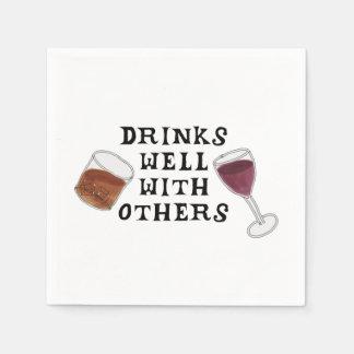 Funny Napkins Wine and Liquor Alcohol Humor Disposable Serviettes