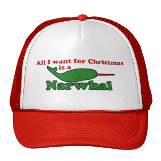 Funny Narwhal Christmas Cap