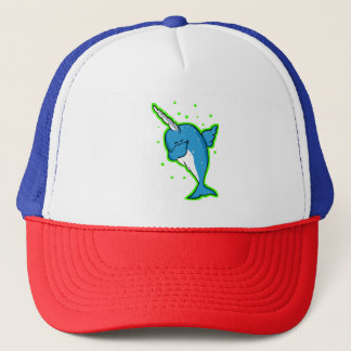 Funny Narwhal Dabbing Trucker Hat