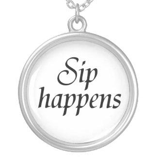 Funny necklaces unique gift idea Sip Happens