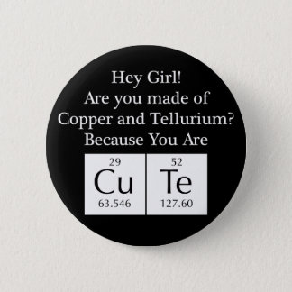 Funny Nerd Chat Up Line 6 Cm Round Badge