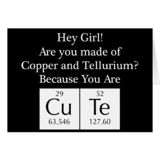 Funny Nerd Chat Up Line Greeting Card
