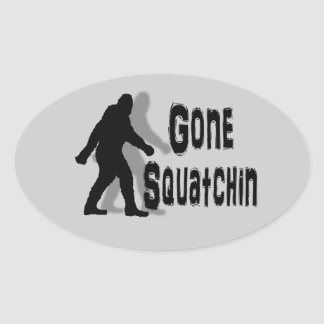 funny nerdy geek big foot sasquatch oval sticker