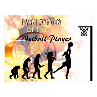 Funny Netball Player Evolution Theme Postcard
