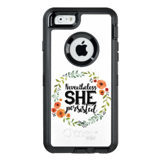 Funny Nevertheless she persisted cute vintage meme OtterBox Defender iPhone Case