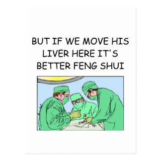 funny new age doctor joke postcard