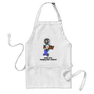 Funny new dad standard apron