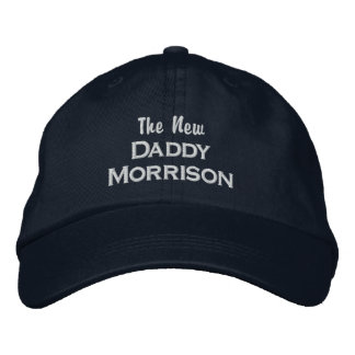 Funny New Daddy Custom Dad Last Name New Baby Embroidered Hat