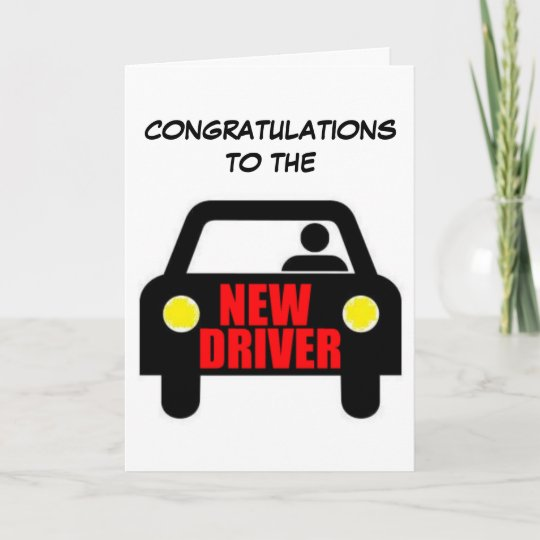 Funny New Driver Quote Card