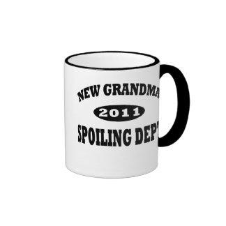 Funny New Grandma Spoiling Department Mugs