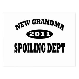 Funny New Grandma Spoiling Department Postcard