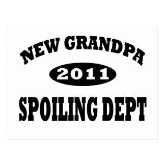Funny New Grandpa Spoiling Department Postcard