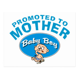 Funny New Mother First Baby Boy Postcard