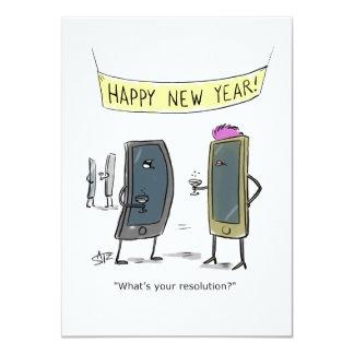 Funny New Year's party invitation