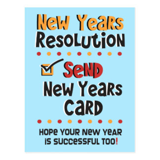 Funny New Years Resolution © New Year Humor Cards Postcard